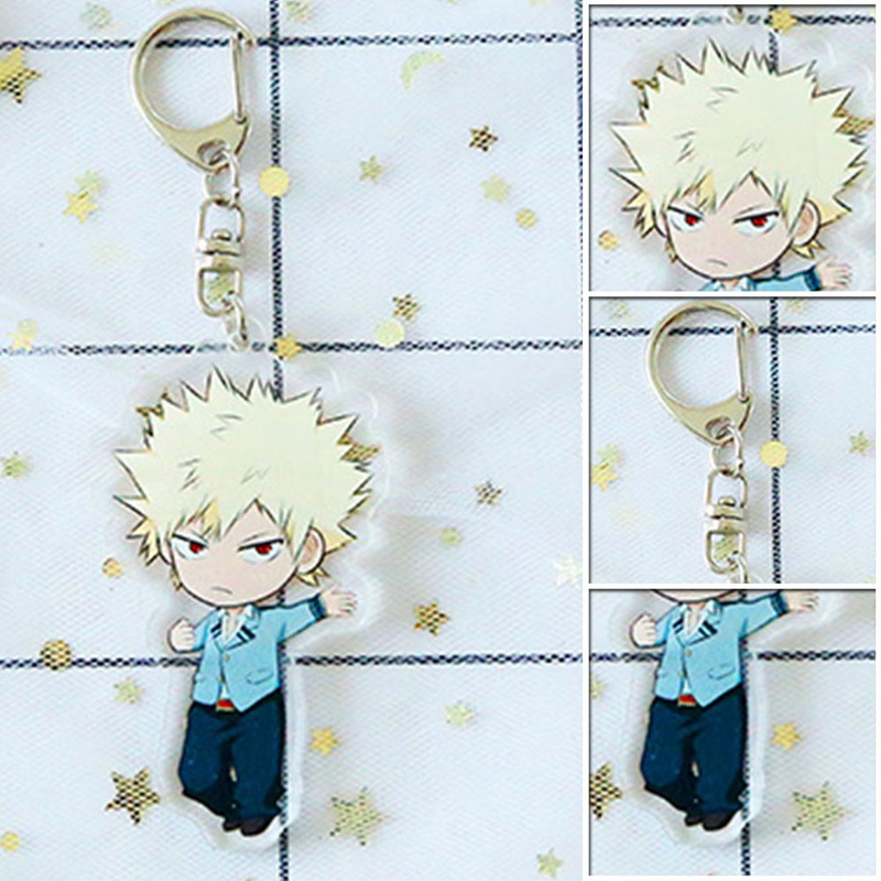 Katsuki Bakugo Acrylic Keychain My Boku No Hero Academia Hero Keyrings Clip