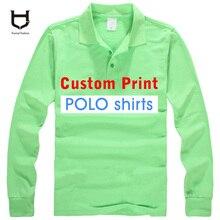 Kundenspezifisches logo Auf t-shirts Mens Shirts mit langen ärmeln Colourfuls reiner baumwolle Pique Textur Kundenspezifische Druck T Shirts