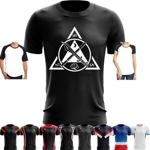 76767e05a Sport Quick Dry Running Basketball Soccer Training T Shirt Men Women Funny  Kali Filipino Martial Arts Emblem Customized Printed