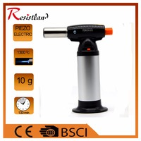 Flame Gun Torch Butane Lighter Burning Torch Electricity Ignite Outdoor Gas Torch Camping BBQ Soldering Welding
