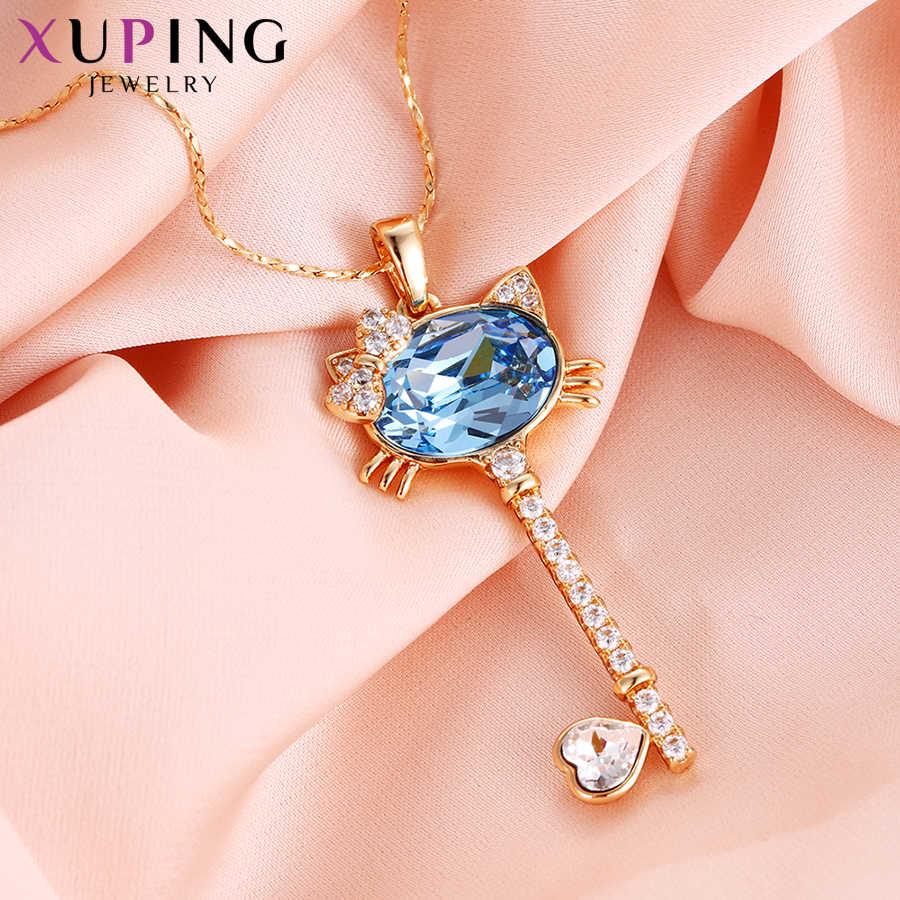 Xuping élégant amour motif cristaux de Swarovski femmes pendentif colliers saint valentin cadeaux M14-3000