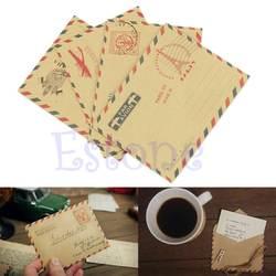 Новый Винтажный 10 листов мини-конверт открытка письмо канцелярская бумага для хранения