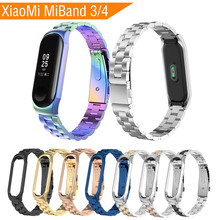 Metal Strap For Xiaomi Mi Band 3 Miband 4 Smart Watch Stainless Steel Bracelet Replacement