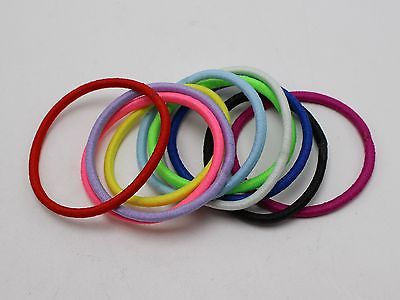100 Mixed Color Strong Elastic Hair Band Rope Ponytail Holder Hair Ties for  Girl 6f41a786860