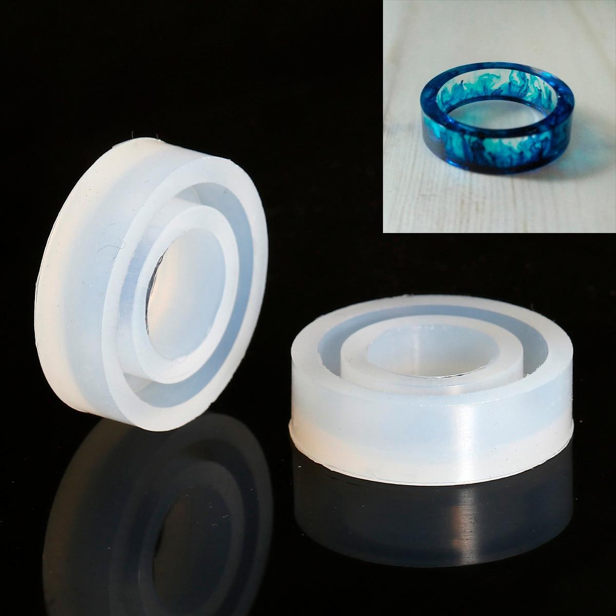 Doreen Box Silicone Resin Mold Finger Ring White 30mm(1 1/8