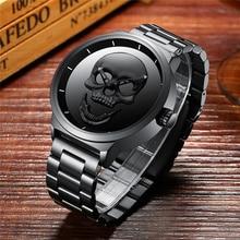 Skull Watches Men Unique Design Man Watch Luxury Brand Sports Quartz Military Stainless Steel Male Wristwatch