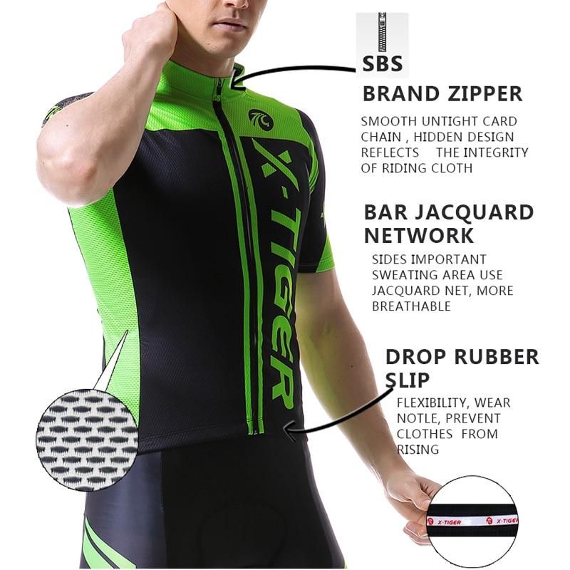 X-Tiger 2019 Kaus Bersepeda Musim Panas Mans Sepeda Gunung Pakaian - Bersepeda - Foto 2