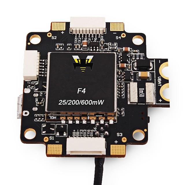 New F4 V5 PRO Controlador de Vôo Com 5 V 3A BEC 40CH atual Sensor De 5.8 GHz 25 mW 200 mW 600 mW Transmissor FPV Vôo controlador