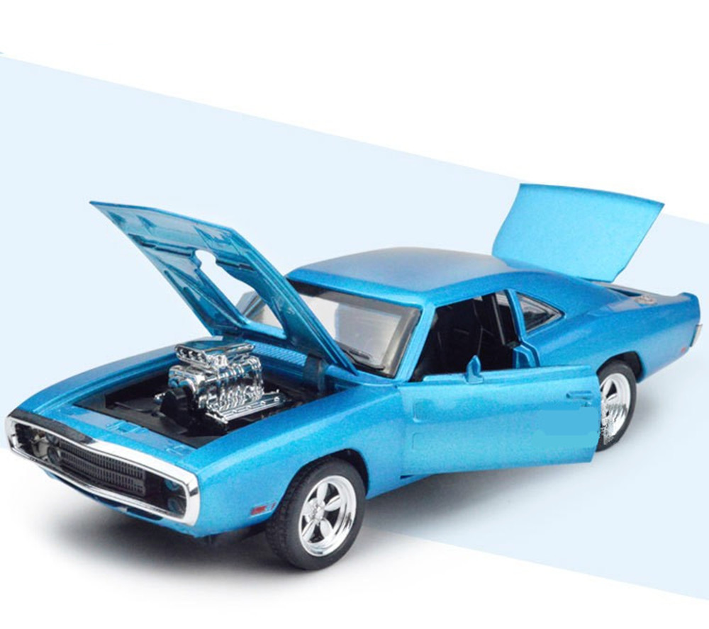 32 Scale Fast Furious 7 Alloy Dodge Charger Pull Back Toy Cars  # Modele Banc En Bois