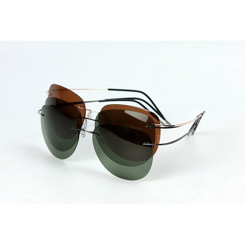 d6f2c6dd9a eyewear motorcycle Picture - More Detailed Picture about 100% Titanium  Silhouette sunglasses .
