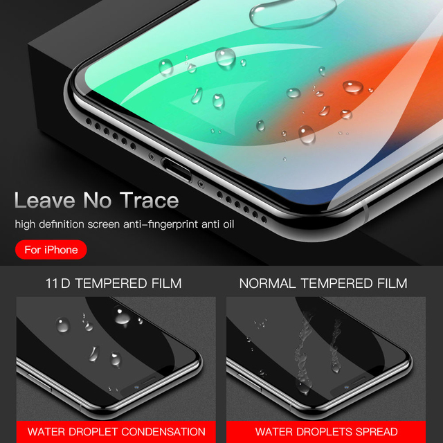 Suntaiho 10D protective glass for iPhone X XS 6 6S 7 8 plus glass screen protector for iPhone 7 6 X XR XS MAX screen protection 4