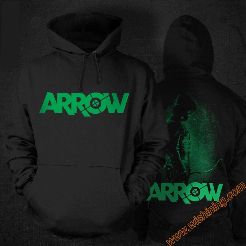 Marvel Superhero Green Arrow Hoodie mens Black 3xl Large Size Oliver Queen Arrow Hero Sweatshirts