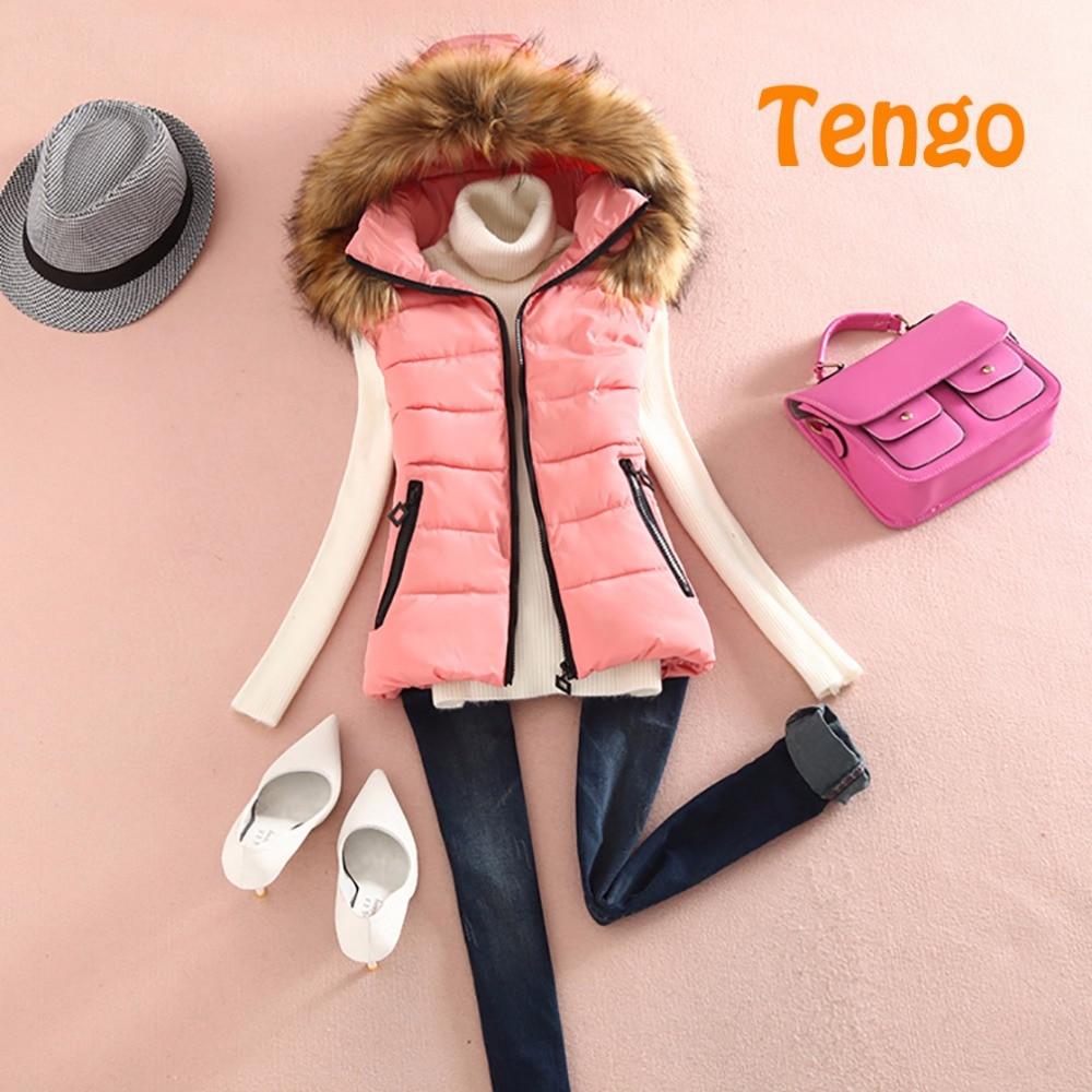 Tengo Марка женская жилетка с капюшоном жилет случайный тонкий пуховик хлопок жилет женская шуба женская женская зимняя куртка