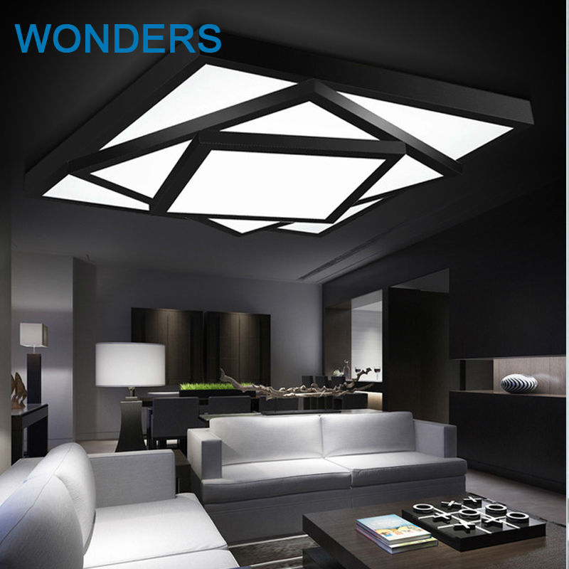 Modern led ceiling light rectangle restaurant lamp dimming brief fashion lamps for living room bedroom drawing room 110-240V j best price modern fashion crystal lamp rectangle restaurant ceiling lamp sitting room partition lamps led ceiling light