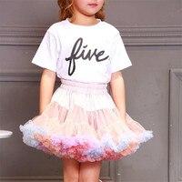 2019 New Full size Fluffy Baby Girl Pettiskirt Mesh Tutu Party Dance Performance Kids Clothing Tulle Skirt G021