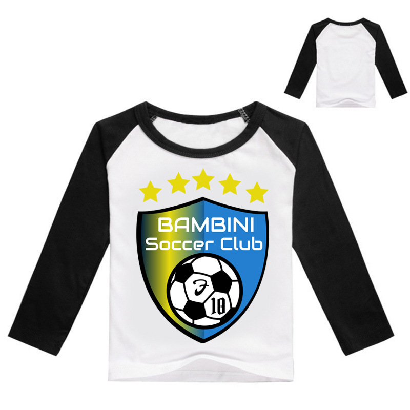Z&Y 3-16Years Bobo Choses Jersey Soccer Shirt Kids Soccer Jersey Club Clothes Children Uniforms Soccer Tshirt Boys Clothing Z204