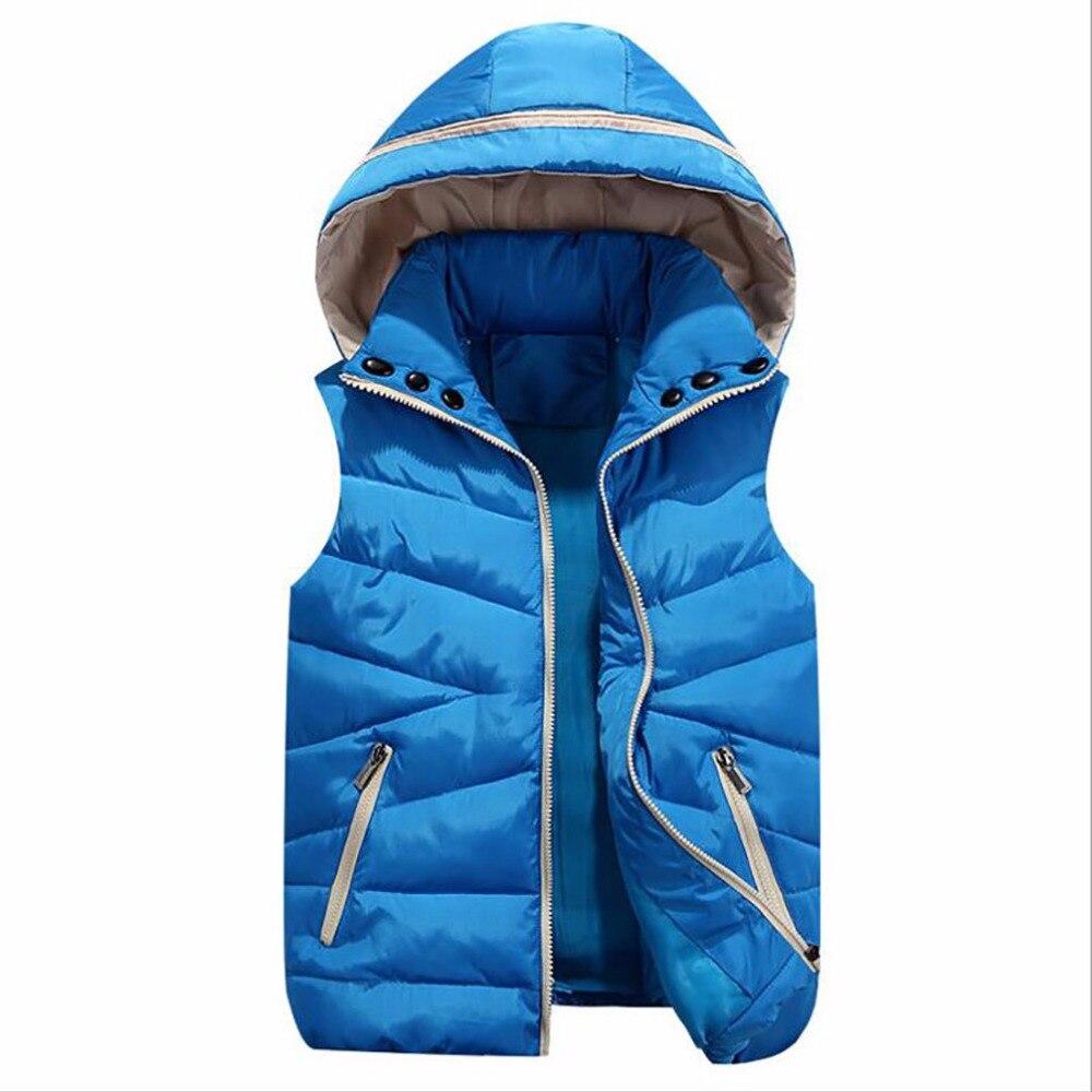 2019 zimní móda Vesta dámské Odnímatelné čepice Bavlněné vesty Femme rukávy Dámské bundy Cardigan Vesty Vest ženy Oblečení