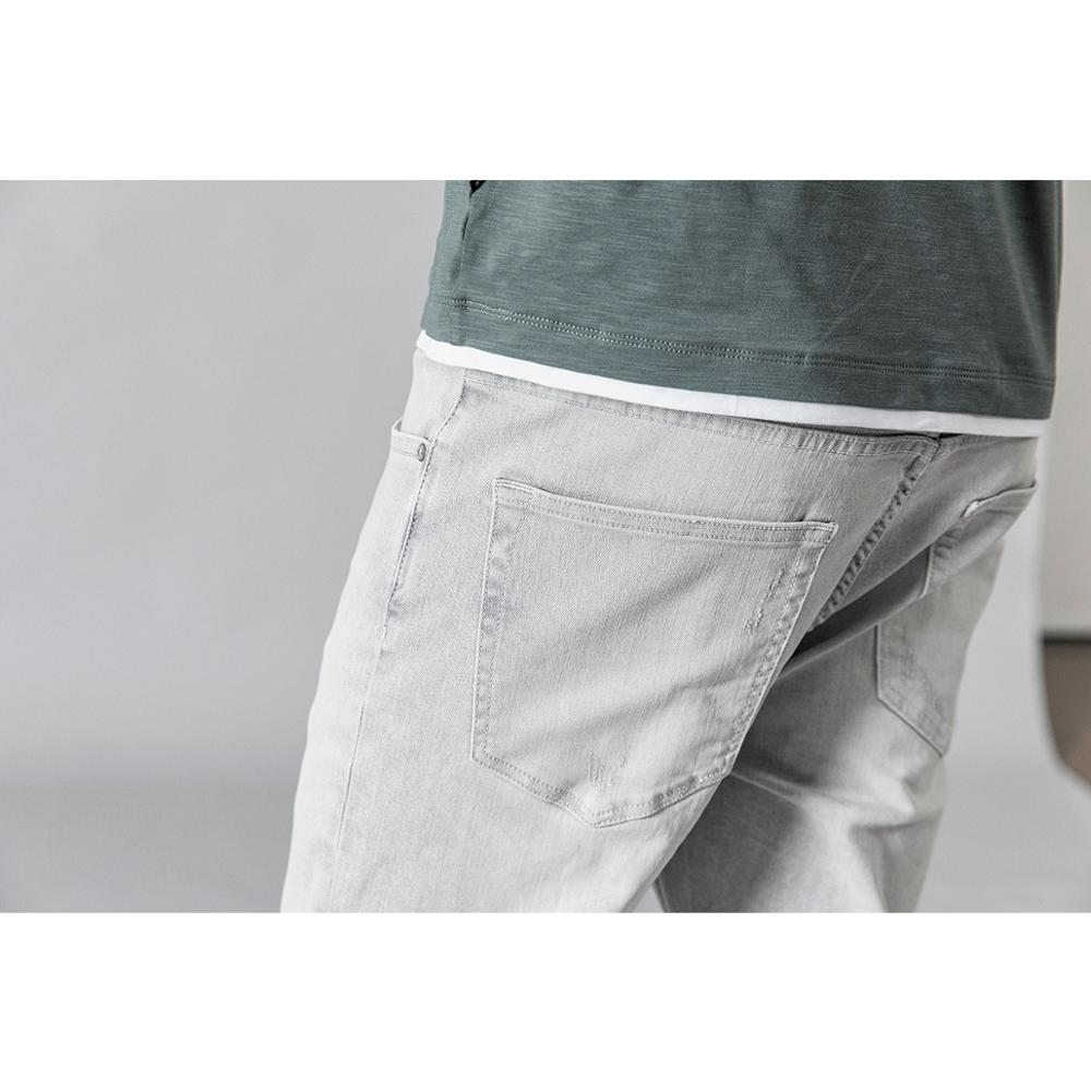SIMWOOD 2019 Washed Vintage Ripped Jeans Men Fashion Light Grey Slim Fit Ankle Length Denim Trousers Fashion High Quality Jeans-in Jeans from Men's Clothing    3