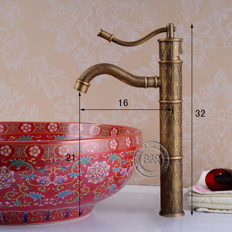 BECOLA Antique bathroom faucets bronze antique water tap antique ...