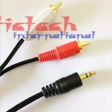 by dhl or ems 100pcs 1.5m 3m 5m AV 1 into 2 Audio Stereo Aux Cord 2RCA to 3.5mm Male 3.5 Jack RCA Aux Cable For Car/PC/TV