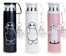 Heißer Verkauf Baymax Thermoskanne Tasse Bonus Anhänger 350/500 ml Edelstahl Wärmedämmung Thermos Isolierflasche Reisebecher drink