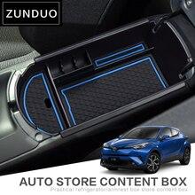 Zunduo для Toyota C-HR 2016 2017 автомобиля центральный подлокотник ящик для хранения Геометрия алмаз моды текстура красный синий белый коричневый