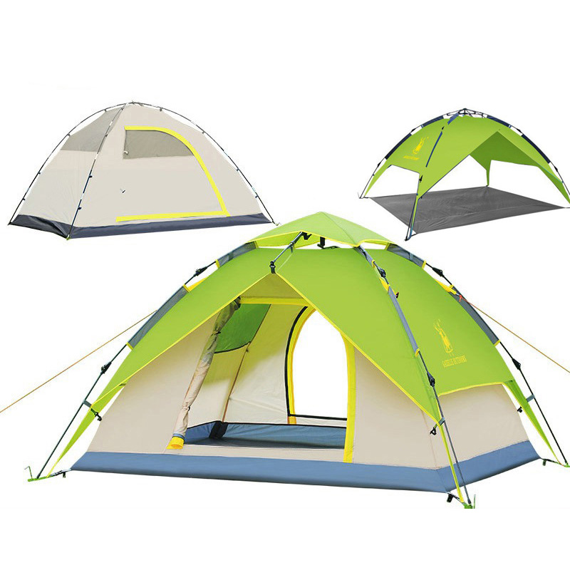 large camping tent 3-4 person Tents Hydraulic automatic Waterproof Outdoor Hiking tent camping Picnic tents tabernacle coolwalk 3 4 person dome tent windproof waterproof double layer tent outdoor hiking camping beach tent picnic family tents