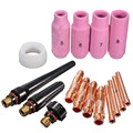 New High Quality TIG KIT & WP SR 17 18 26 Series TIG Welding Torch Consumables Accessories 16PK