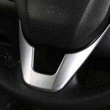 ABS chrome Para Honda CRV CR-V 2017-Car styling acessórios Botão do volante Do Carro Cobertura para carcaça Guarnição U estilo