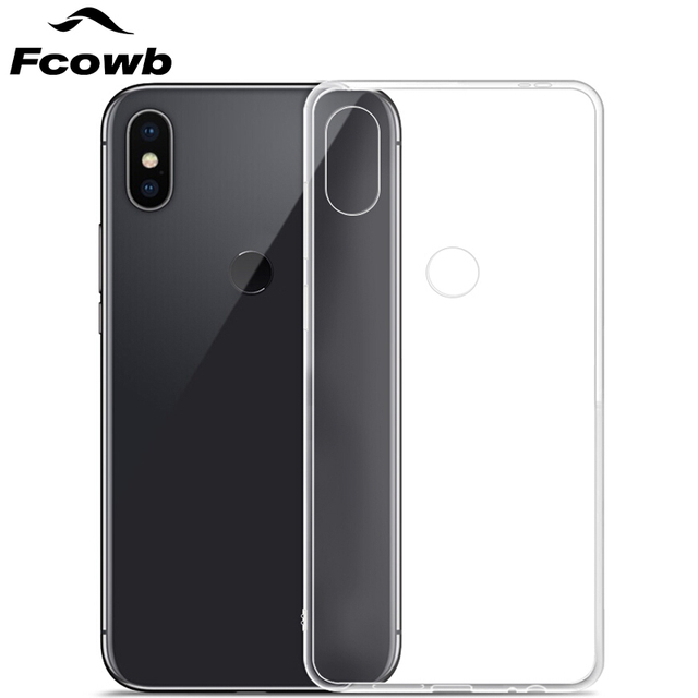quality design 69d62 02277 FCOWB For Xiaomi Redmi Note 5 Pro Silicon Case High Quality Safety  Transparent Clear Soft TPU Protector Back Cover Case