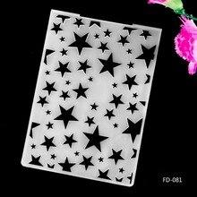 2017 New Arrival Scrapbook Stars design DIY Paper cutting dies SCRAPBOOKING PLASTIC EMBOSSING FOLDER EF01