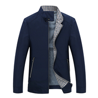 Spring Autumn Men Slim Fit Polyester Jacket Jaqueta Masculina Business Windbreak Fashion Male Travel Outwear Overcoat 3XL XMR14