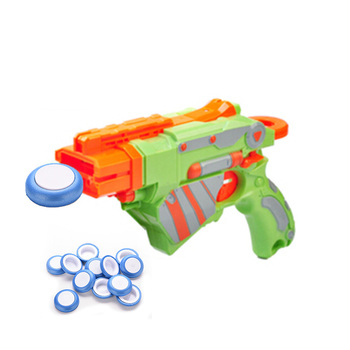 New Arrival 12pcs Blue White Discs Gun Vortex Praxis Flying Toy Bullet for Outdoor Game Frisbee bead
