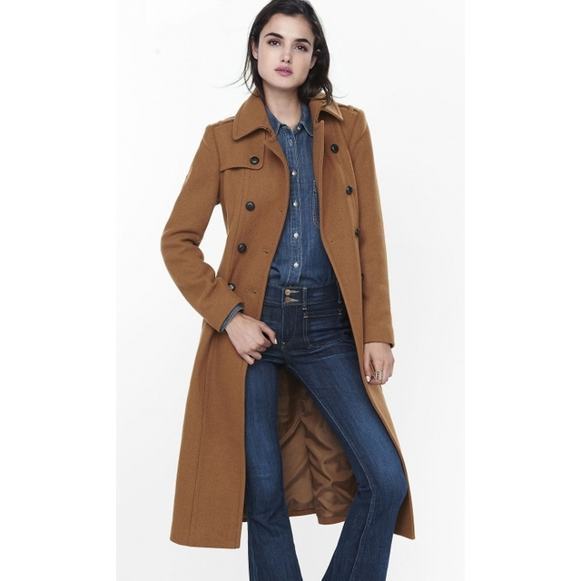 Uk Style New Fashion 2019 Fall Winter Simple Woolen Notched Lapel
