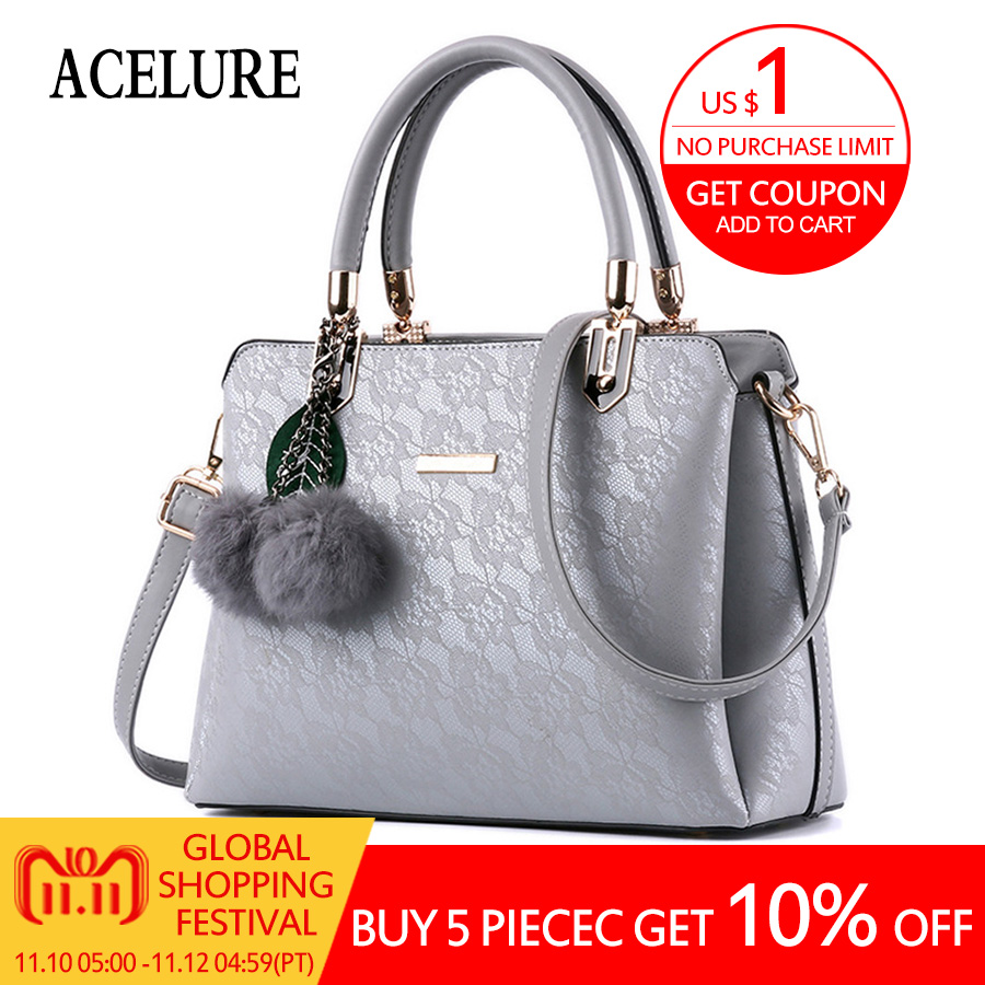 ACELURE Women Fur Handbags High Quality Printing Women Bags Women PU Leather Shoulder bags Messenger Bags Sweet Tote Bag Bolsa olgitum new 2017 famous women pu leather handbags women popular bags high quality women s messenger bags pouch bag tote hb064