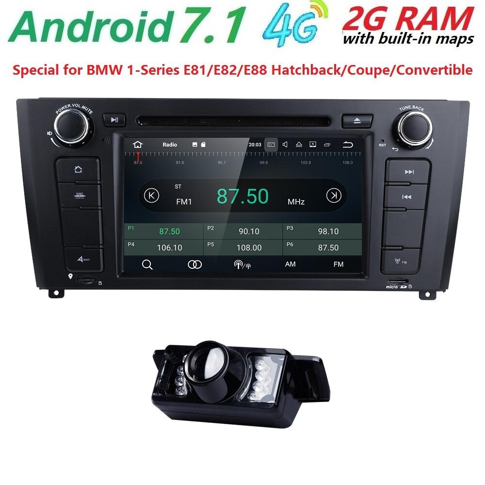 1 Din Android 7.1 GPS Car DVD Player For BMW 1 Serie E87 E81 E82 E88 I202004 2005 2006 2007 2008 2009 20102011 screen Navigation