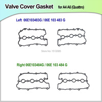 LEFT RIGHT Valve Cover Gasket Cylinder Head Gasket For A4 A6 Quattro 06E103483G 06E 103 483