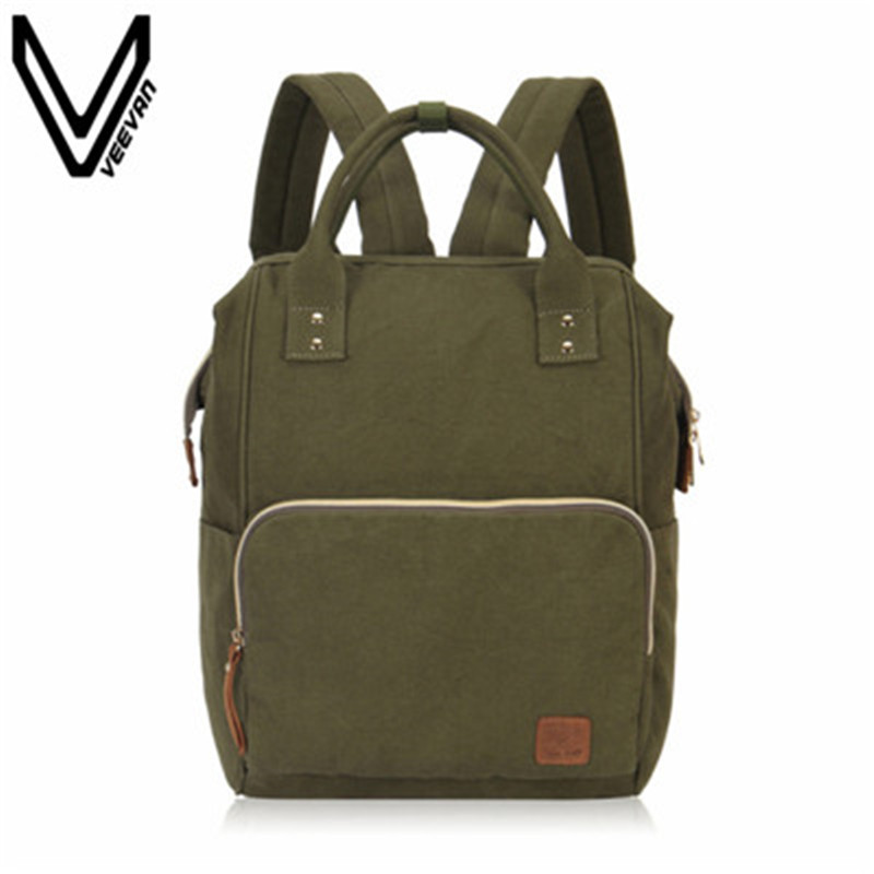 VEEVANV Fashion Women Backpacks Female Shoulder Bag Canvas Men Backpack School Bookbag New Casual Rucksack Travel Bag Laptop Bag luxury ultra slim magnetic smart flip stand pu leather cover case for apple ipad 6 air 2 retina display wake stylus pen