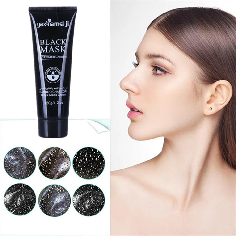 Face Mask Remove Blackheads Bamboo Charcoal Nose Pack  Blackhead Remover Oil Control Black Peel Off Mask Skin Care Whitening
