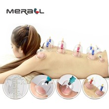 12 pcs/Set Medical Vacuum Suction Cupping Cups Body Massage Cans Chinese Acupunctur Health Care Vacuum Slimming Body Cupping Set 24 pcs can massager health monitors products can opener pull vacuum cupping massage set of the tanks cutem extractor acupuncture
