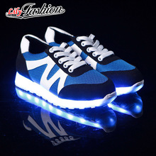 ขนาด36-43 Ledรองเท้าเรืองแสง7สีLEDผู้ชายผู้หญิงแฟชั่นส่องสว่างLed Light UPรองเท้าสำหรับผู้ใหญ่ ASP42