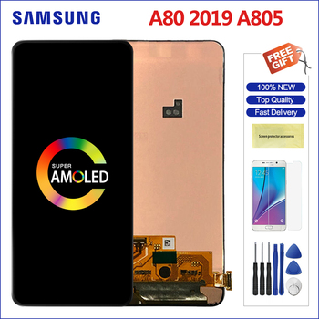 "Sensitive AMOLED For 6.7"" Samsung Galaxy A80 A90 LCD Display Screen + Touch Screen Panel Digitizer Replacement For A805 A805F"