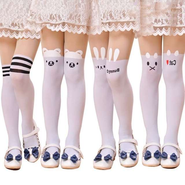 3aa03311e50 Free Shopping Spring Children Baby Kids Girls Baby Cute Hello Kitty Knee  Lovely Tattoo Tights Pantyhose Girls Cute for Tights
