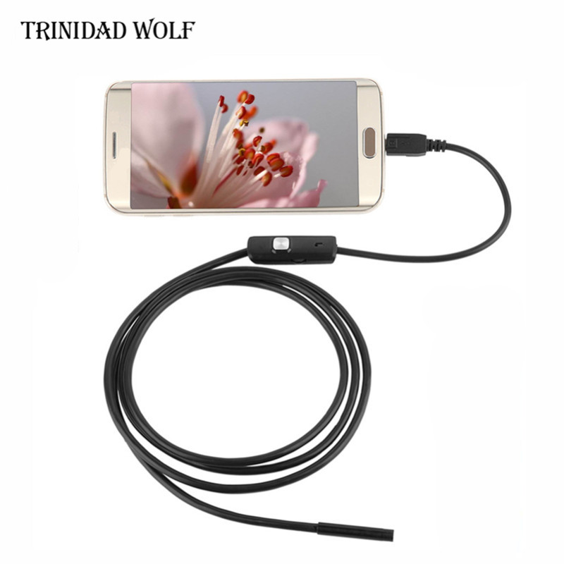 Android Endoscope for OTG Cell Phone 7MM 1M Waterproof Borescope Snake Pipe Camera Professional Inspection Tube 7mm 2m endoscope endoskop android usb phone camera cable otg tube borescope pipe waterproof ip67 inspection surveillance wistino