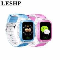 LESHP 1.4 Pouce Coloré Écran Intelligent Montre-Bracelet Téléphone Anti-perte Enfants GPS Tracker SOS Appel Caméra lampe de Poche Pour Android