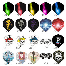 15/30/60pcs Dart Wing 2D Cool Fights Tail Leaf Sports Mixed Pattern Colorful Accessories Multiple Styles Random