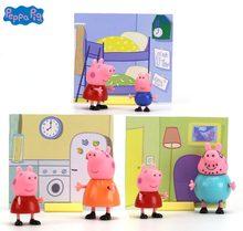 Genuine Peppa Pig 2 pcs/lot Hot sale Genuine Peppa Pig Peppa George daddy mammy kids Birthday Christmas Gift Children's toy(China)