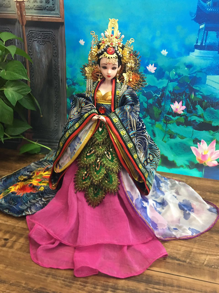 12 Collectible Chinese Dolls With 12 Joints Movable Ancient Costume BJD Doll Tang Dynasty Princess Dolls