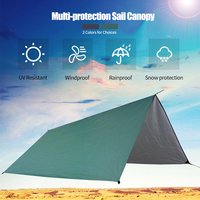 Waterproof Rain Sun Shelter Sunshade Protection Outdoor Canopy Garden Patio Pool Shade Sail Awning Camping Tent Picnic Mat