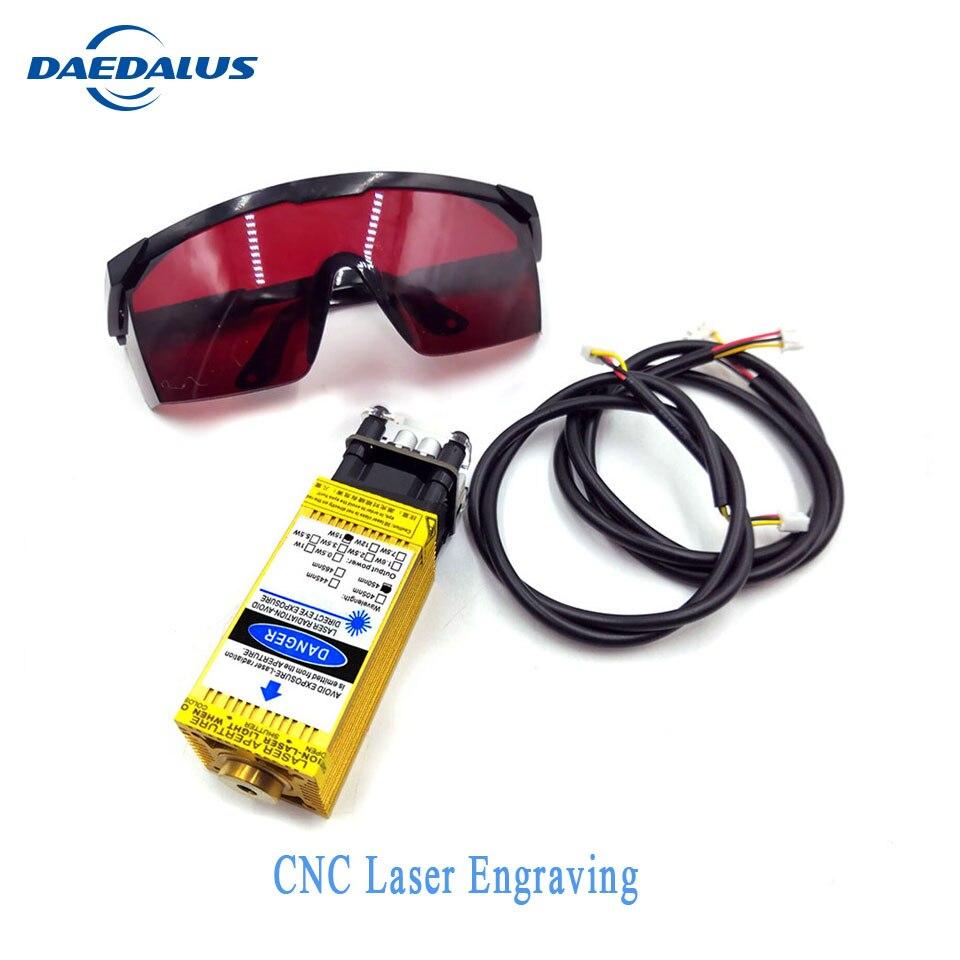 Module Laser or focalisable 500 mW-15 w découpe Laser 12V TTL PWM pour CNC 3018, CNC 2418, CNC 1610